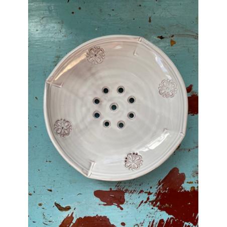 Tvålkopp i keramik vit