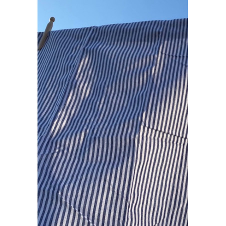 Kökshandduk blå randig 50x70 cm