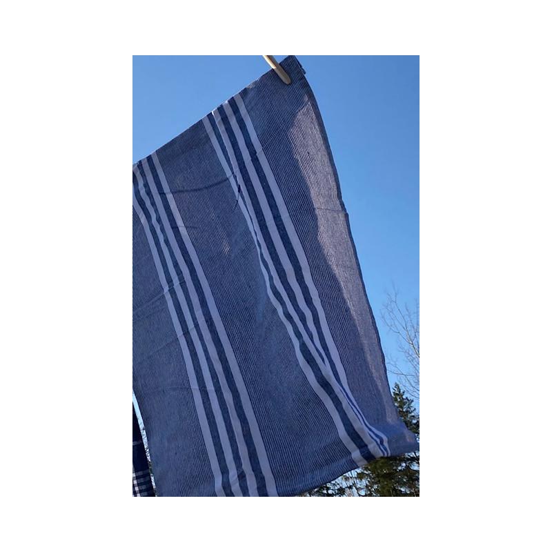 Kökshandduk marin blå rutig 50x70 cm