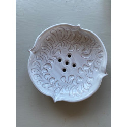 Tvålkopp keramik vit med...