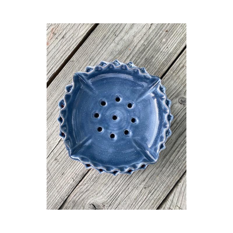 Tvålkopp keramik blå