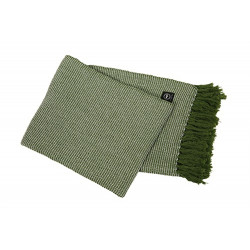 Pläd Valter 130x170 cm Grön/Vit Våffelmönstrad